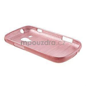 Broušený gelový kryt na Samsung Galaxy S Duos - růžový - 6
