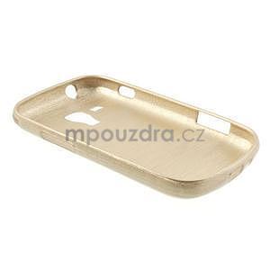 Broušený gelový kryt na Samsung Galaxy S Duos - zlatý - 6