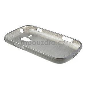 Broušený gelový kryt na Samsung Galaxy S Duos - šedý - 6