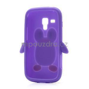 Silikonový obal tučňák na Samsung Galaxy S Duos - fialový - 6