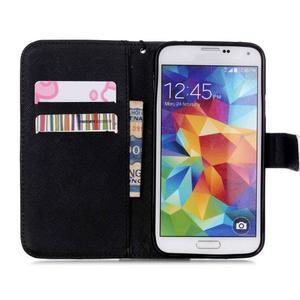 Knížkové PU kožené pouzdro na Samsung Galaxy S5 - lebka - 6