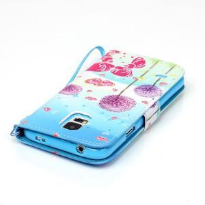Knížkové PU kožené pouzdro na Samsung Galaxy S5 - láska - 6