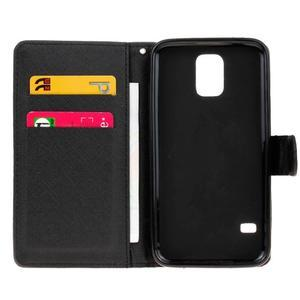 Knížkové PU kožené pouzdro na Samsung Galaxy S5 - nedotýkej se mého telefonu - 6