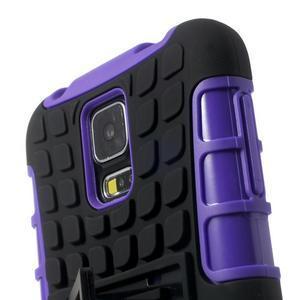 Outdoor odolný kryt na mobil Samsung Galaxy S5 - fialový - 6
