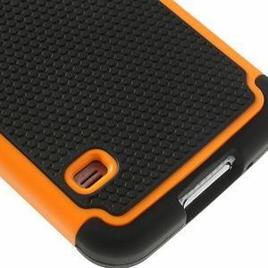 Odolný obal 2v1 na mobil Samsung Galaxy S5 - oranžový - 6