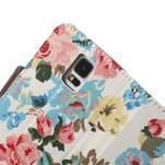 Květinové pouzdro na mobil Samsung Galaxy S5 - bílé pozadí - 6/7