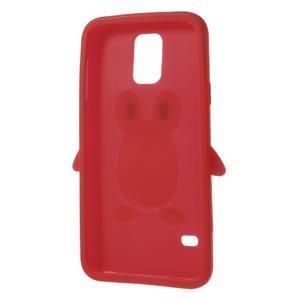 Penguin silikonový obal na Samsung Galaxy S5 - červený - 6