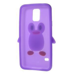 Penguin silikonový obal na Samsung Galaxy S5 - fialový - 6