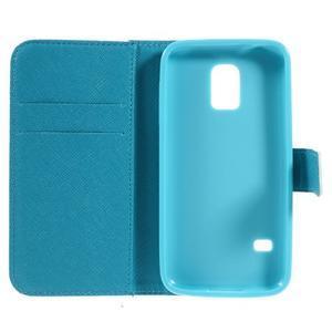 Emotive PU kožené pouzdro na Samsung Galaxy S5 mini - kvetoucí větvička - 6