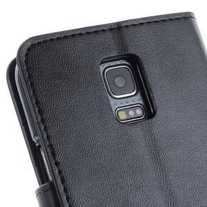 Sonata PU kožené pouzdro na Samsung Galaxy S5 mini - černé - 6