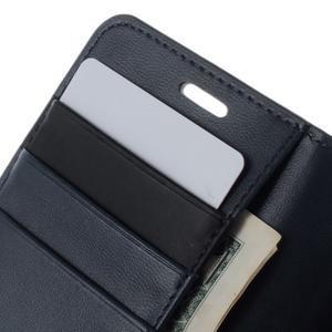 Sonata PU kožené pouzdro na Samsung Galaxy S5 mini - tmavěmodré - 6