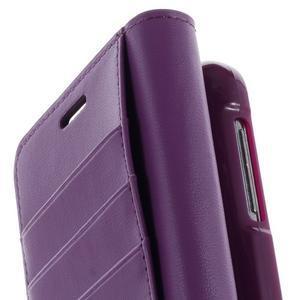 Sonata PU kožené pouzdro na Samsung Galaxy S5 mini - fialové - 6