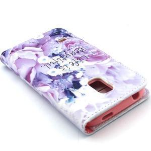 Peněženkové pouzdro na mobil Samsung Galaxy S5 mini -  květiny - 6