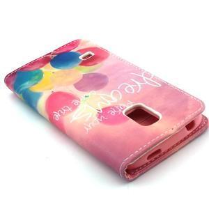 Peněženkové pouzdro na mobil Samsung Galaxy S5 mini - balónky - 6