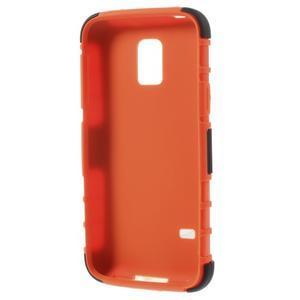 Outdoor odolný obal na mobil Samsung Galaxy S5 mini - oranžový - 6