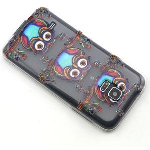 Transparentní gelový obal na mobil Samsung Galaxy S5 mini - sovy - 6