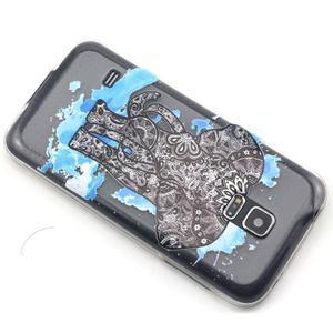 Transparentní gelový obal na mobil Samsung Galaxy S5 mini - slon - 6