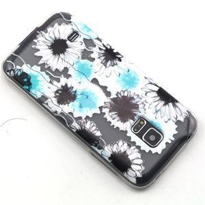 Transparentní gelový obal na mobil Samsung Galaxy S5 mini - sedmikrásky - 6