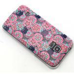 Transparentní gelový obal na mobil Samsung Galaxy S5 mini - květiny a sloni - 6/6