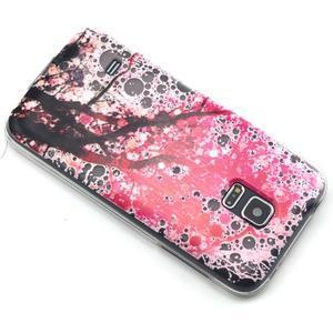 Transparentní gelový obal na mobil Samsung Galaxy S5 mini - kvetoucí třešeň - 6