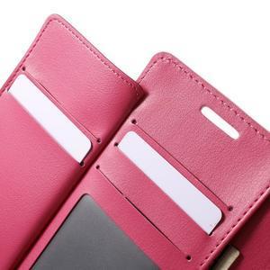 Richdiary PU kožené pouzdro na mobil Samsung Galaxy S6 Edge - růžové - 6