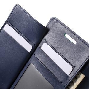 Richdiary PU kožené pouzdro na mobil Samsung Galaxy S6 Edge - azurové - 6