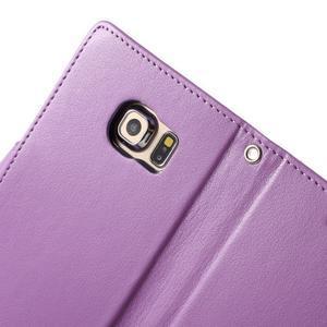 Richdiary PU kožené pouzdro na mobil Samsung Galaxy S6 Edge - fialové - 6