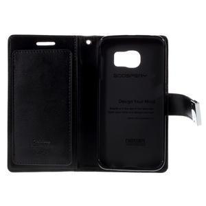 Richdiary PU kožené pouzdro na mobil Samsung Galaxy S6 Edge - černé - 6