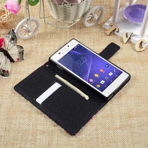 Standy peněženkové pouzdro Sony Xperia M2 Aqua - modrý motýl - 6