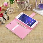 Standy peněženkové pouzdro Sony Xperia M2 Aqua - květiny - 6/6