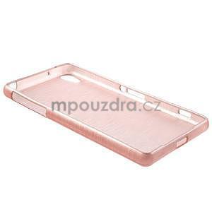 Broušený gelový obal na Sony Xperia Z2 - růžový - 6