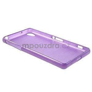 Broušený gelový obal na Sony Xperia Z2 - fialový - 6