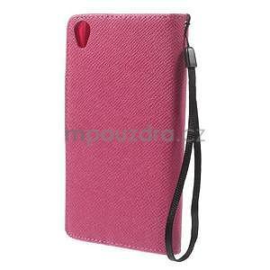 Rose peněženkové pouzdro na Sony Xperia Z3 - 6