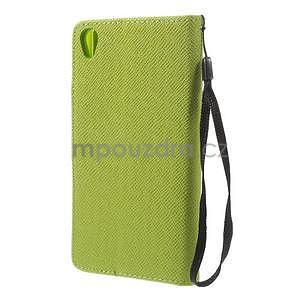 Zelené peněženkové pouzdro na Sony Xperia Z3 - 6