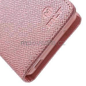 Růžové peněženkové pouzdro na Sony Xperia Z3 Compact - 6