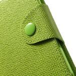 Zelené peněženkové pouzdro na Sony Xperia Z3 Compact - 6/7