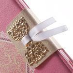 Zapinací pouzdro s mašličkou na Sony Xperia Z3 Compact - růžové - 6/7