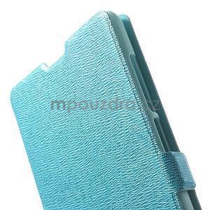 PU kožené pouzdro na Xiaomi Hongmi Note - světle modré - 6