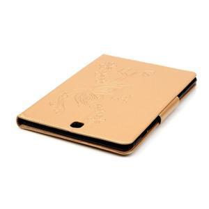 Butterfly PU kožené pouzdro na Samsung Galaxy Tab A 9.7 - zlaté - 6