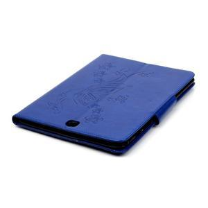 Butterfly PU kožené pouzdro na Samsung Galaxy Tab A 9.7 - modré - 6