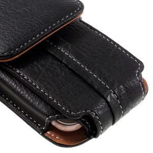 Cestovní PU kožené peněženkové pouzdro do rozměru 150 x 73 x 15 mm - černé - 6