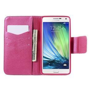 Emotive PU kožené pouzdro na mobil Samsung Galaxy A5 - srdce - 6