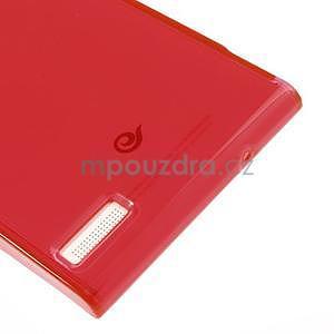 Gelové pouzdro na Huawei Ascend P6 - červené - 6