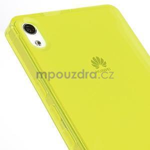 Gelové pouzdro na Huawei Ascend P6 - žluté - 6
