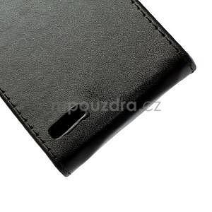 Flipové pouzdro na Huawei Ascend P6 - černé - 6