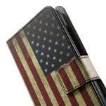 Peněženkové pouzdro na Huawei Ascend Y550 - USA vlajka - 6/7