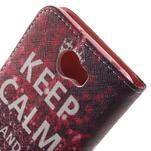 Emotive peněženkové pouzdro na Huawei Y5 II - Keep Calm - 6/7