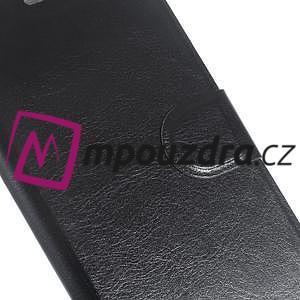 Horse PU kožené pouzdro na mobil Huawei Y5 II - černé - 6