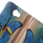 Emotive peněženkové pouzdro na Huawei Y5 II - modrý motýl - 6/7