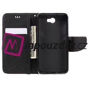 Butterfly PU kožené pouzdro na mobil Huawei Y5 II - černé - 6